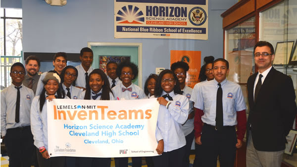 Horizon Science Academy – Cleveland High School  Awarded prestigious $10,000 MIT grant for class invention